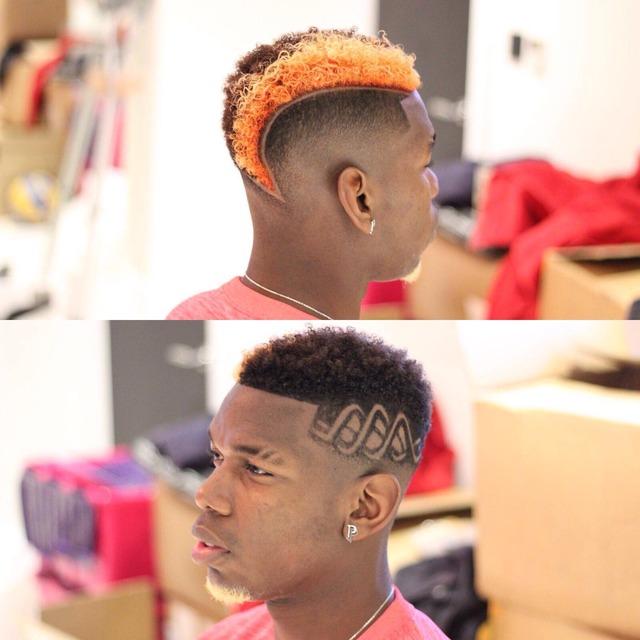 ◆画像◆マンUポール・ポグバがド派手なヘアーに変身!髭を金に髪をオレンジに!