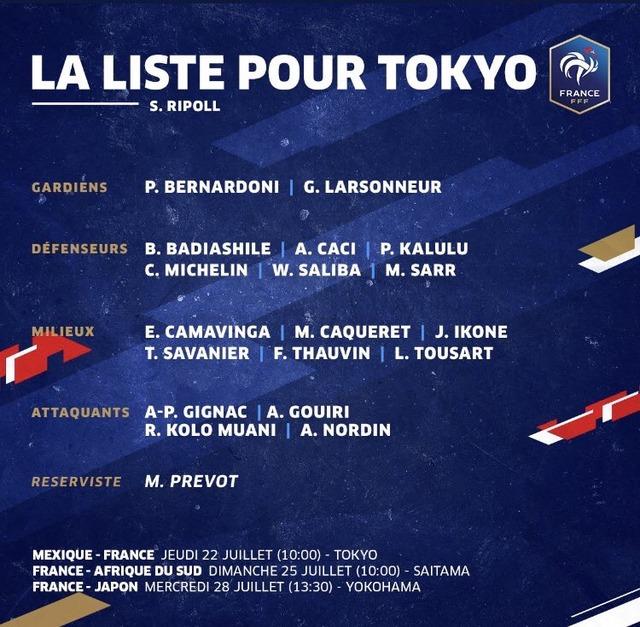 ◆五輪小ネタ◆U24フランス代表を3軍呼ばわりしてる勘違い君はその細い目を見開いてもう一回メンバーリストみてみたら?