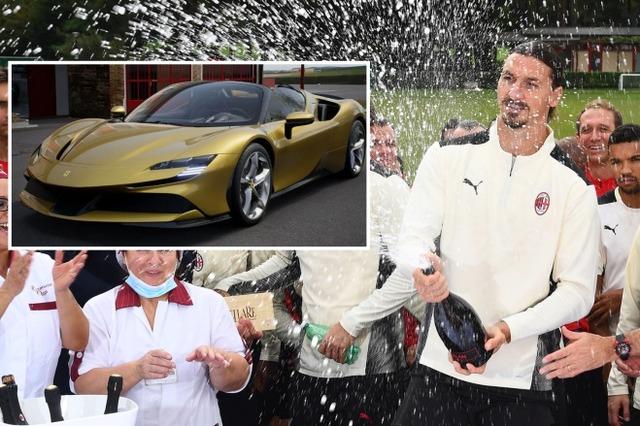 ◆セリエA◆イブラヒモビッチ、40歳の誕生日に金色のフェラーリハイブリッドカーを自分へプレゼント!