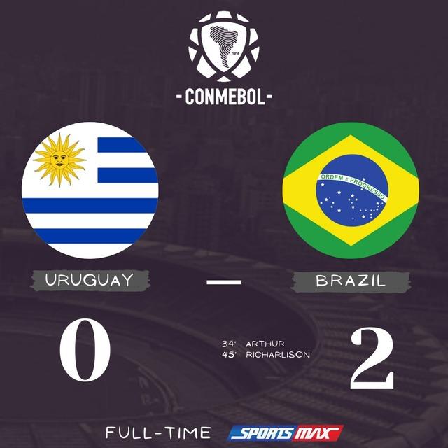 ◆W杯予選◆南米4節 ウルグアイ×ブラジル ブラジル、アルトゥールとリチャルリソンのゴールで敵地で快勝!カバーニ退場
