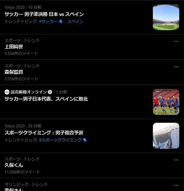 ◆悲報◆U24 日本代表FW上田綺世たん、ネガティブな感じでトレンドインしてしまう(´・ω・`)