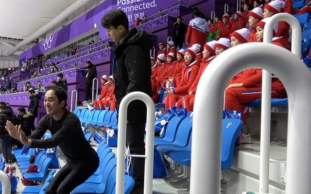 ◆悲報◆平昌五輪北朝鮮美女応援団、江頭2:50の全身タイツ姿に思わず笑ってしまう