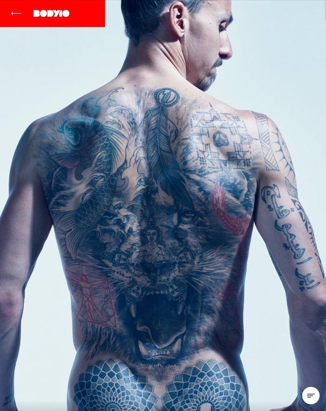 ◆画像◆神ズラタン・イブラヒモビッチのタトゥーがむちゃくちゃ増えていると話題に!