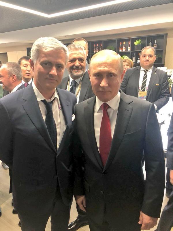 ◆W杯小ネタ◆開会式直後マンU指揮官モウリーニョとロシア大統領プーチンが遭遇した結果www