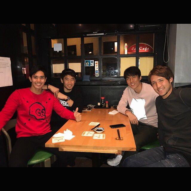 ◆画像◆香川、武藤、長谷部、細貝がフランクフルトで日本食!香川さん薄着で買い物でワロタwww
