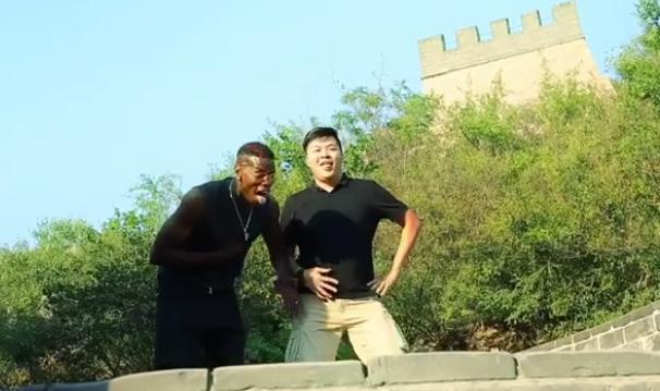◆動画小ネタ◆ポール・ポグバが中国万里の長城の上で100m走!