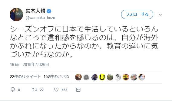 ◆悲報◆スペイン2部鈴木大輔、オフに日本に帰って違和感を感じるようになる