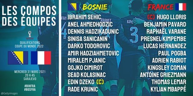 ◆W杯欧州予選◆D組3節 ボスニア×フランス 前回王者フランス、苦戦もグリーズマンのヘッドで0-1辛勝、GL首位堅持