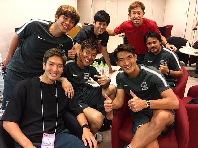 ◆画像◆日本代表FW原口元気が古巣浦和の槙野らとパシャリ!W杯終わって一人だけ違うオーラを醸し出してるらしい