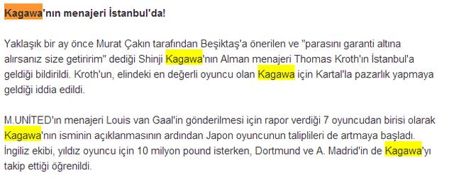 ◆移籍速報◆香川真司の代理人トーマス・クロート、トルコのイスタンブール出没、ガラタサライと香川の移籍交渉か?