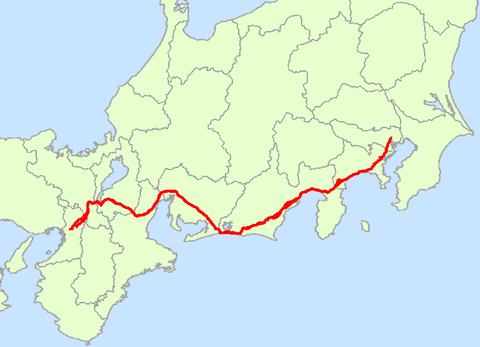 Japan_National_Route_1_Map