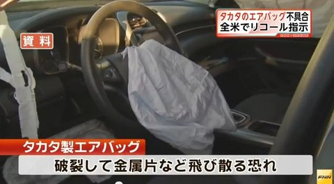 【悲報】欠陥エアバッグ 未改修94万台は車検通らない模様wwwwwwwwwwww