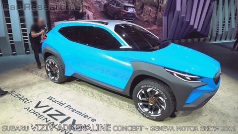 【速報】スバル、今風の新型SUV車種を公開!トヨタC-HR、マツダCX-30に対抗へ