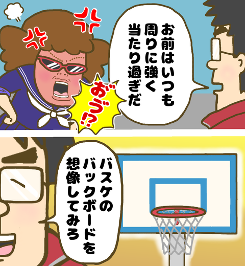 ヤンキー中学生にバスケのバックボードを例えに話す教師