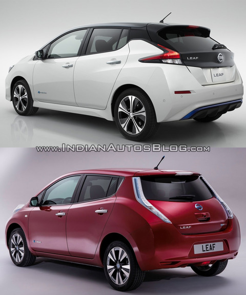 2018-Nissan-Leaf-vs_-2014-Nissan-Leaf-rear-three-quarters