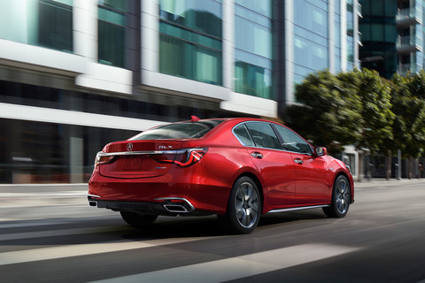 2018-Acura-RLX-Sport-Hybrid-rear-three-quarter-in-motion