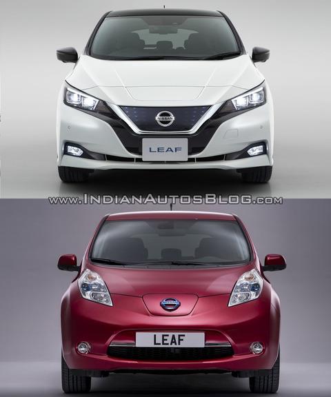 2018-Nissan-Leaf-vs_-2014-Nissan-Leaf-front