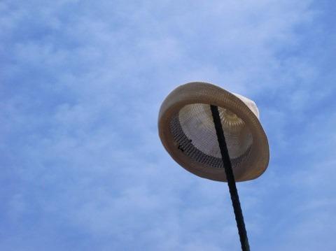 100円ショップの帽子