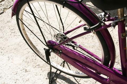久々に自転車に乗って