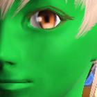 単色メイク 緑