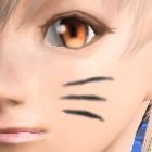 猫ひげペイント黒