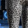 豹柄ロングタイツ白