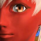 単色メイク 赤