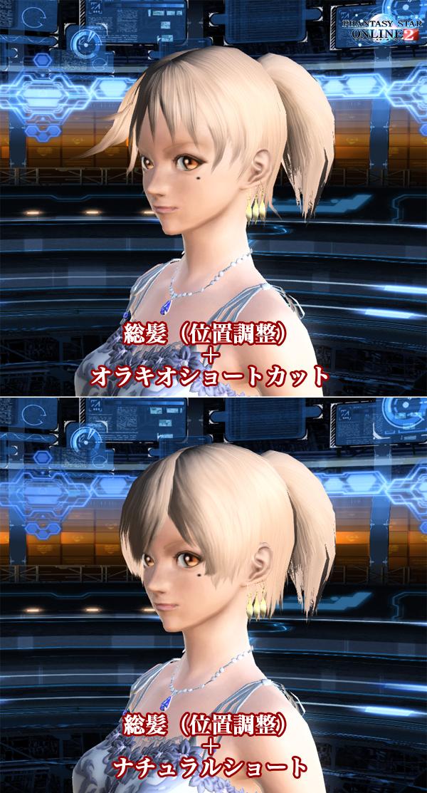 総髪位置調整例