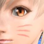 猫ひげペイント赤