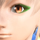 目尻メイク 緑