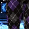 アーガイルタイツ 紫