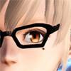 チェーン付きメガネ 黒