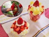 いちご収穫カップケーキ