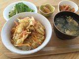 ヤーコンを使った料理の昼食