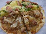 I照り焼きチキンと野菜のピザ