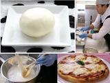 モッツアレラチーズとピザ