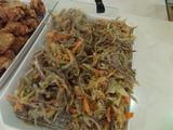 紫玉葱と人参のかき揚げ