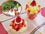 ④イチゴのカップケーキ