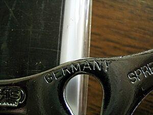 ドイツ製の表記
