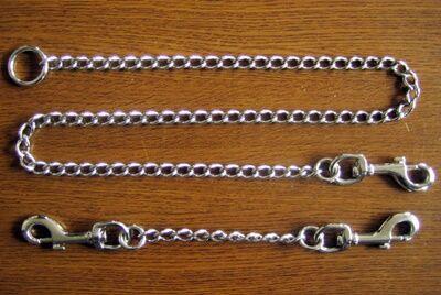 リード金具とナスカン付きチェーン