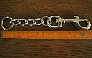 全長18�のリード用チェーン金具