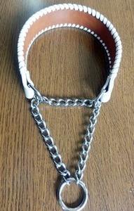 チェーン部分を長いものに交換したカイト君のハーフチョーク首輪