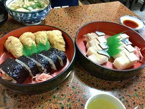 栄寿司の助六と鯖ずし