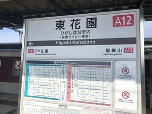 東花園駅の時刻表