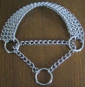 ドーベルマン用のオールメタルハーフチョーク首輪
