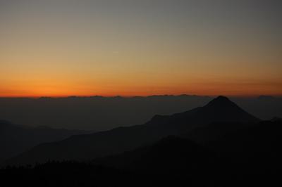 槍ヶ岳が見えるらしい写真