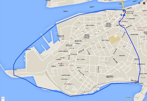くしろ元町定義(地図)