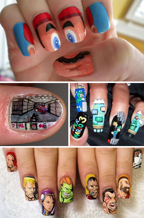 Video-Game-Nail-Art