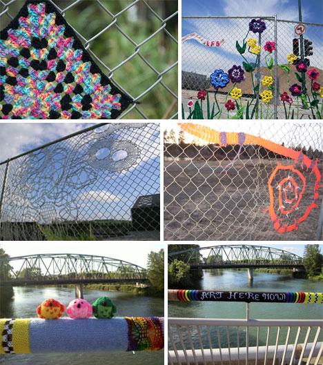 Fence-Yarn-Bomb