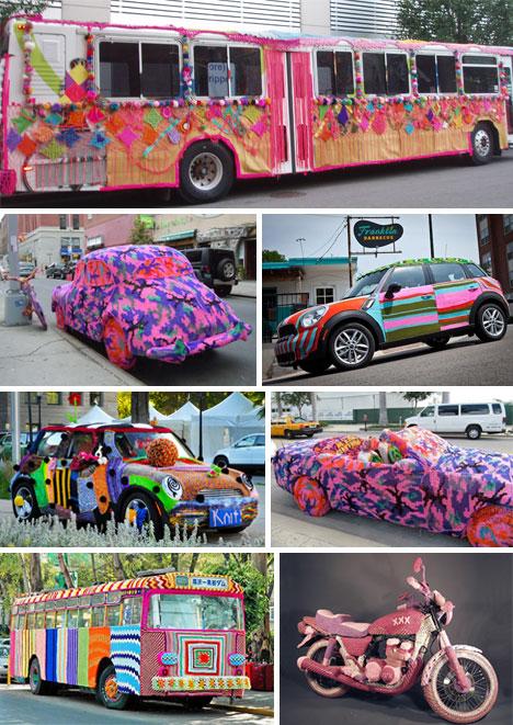 Car-Yarn-Bomb
